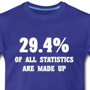 29.4% of all statistics are made up