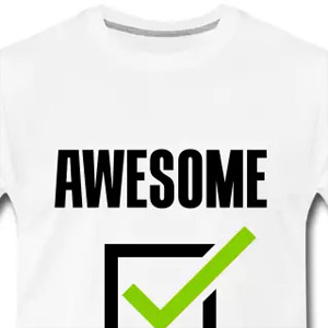 Awesome check tshirt