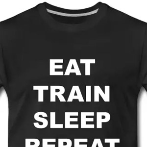 Eat train sleep repeat tshirt