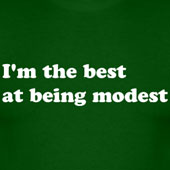 I'm the best at being modest