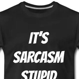 It's sarcasm stupid t-shirt