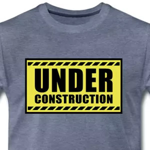 Under construction gym motivation tees
