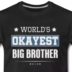 World's okayest big brother